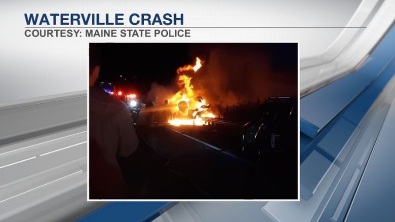 Accident shuts down one lane of I-95 northbound in Waterville Tuesday evening