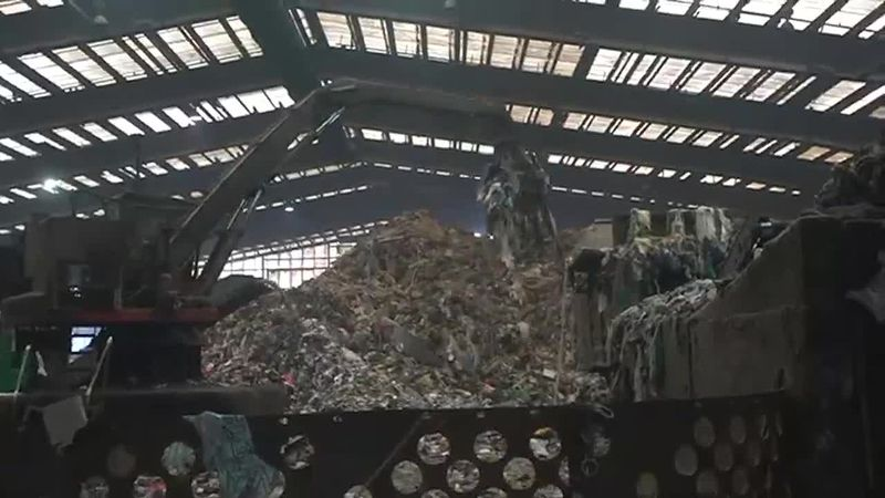 Trash piles grow higher than usual at the Penobscot Energy Recovery Company