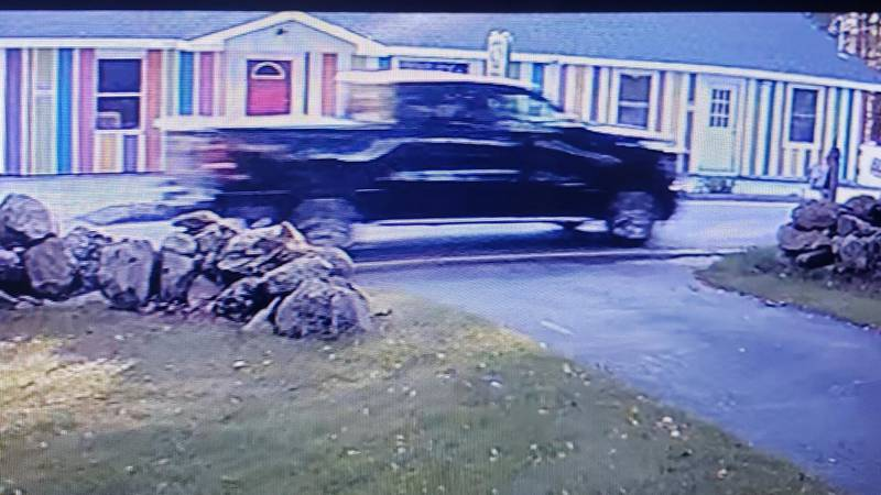 The Dodge Ram believed to be involved in the hit and run crash