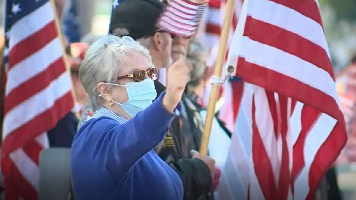 On Saturday, Elaine Greene and Carmen Footer came out of retirement to wave their American...