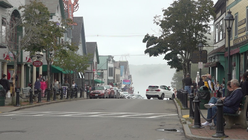 Labor Day Weekend in Bar Harbor was foggy, but still as busy as ever.