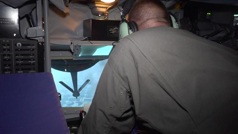 A look inside the KC-135 Air Refueling Boom Simulator