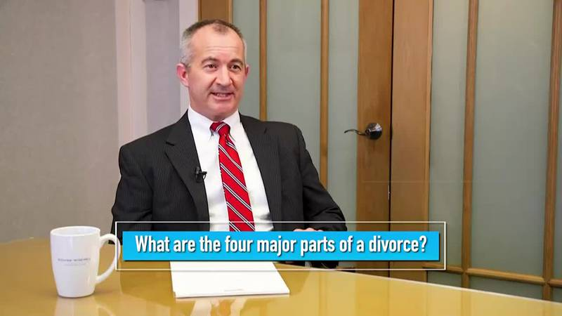 What are the Four parts of a Divorce?
