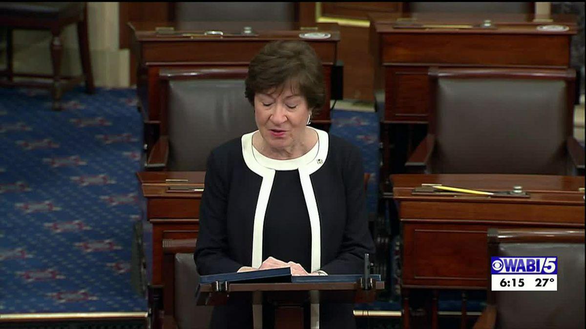 Sen. Susan Collins discusses impeachment vote, Republican party