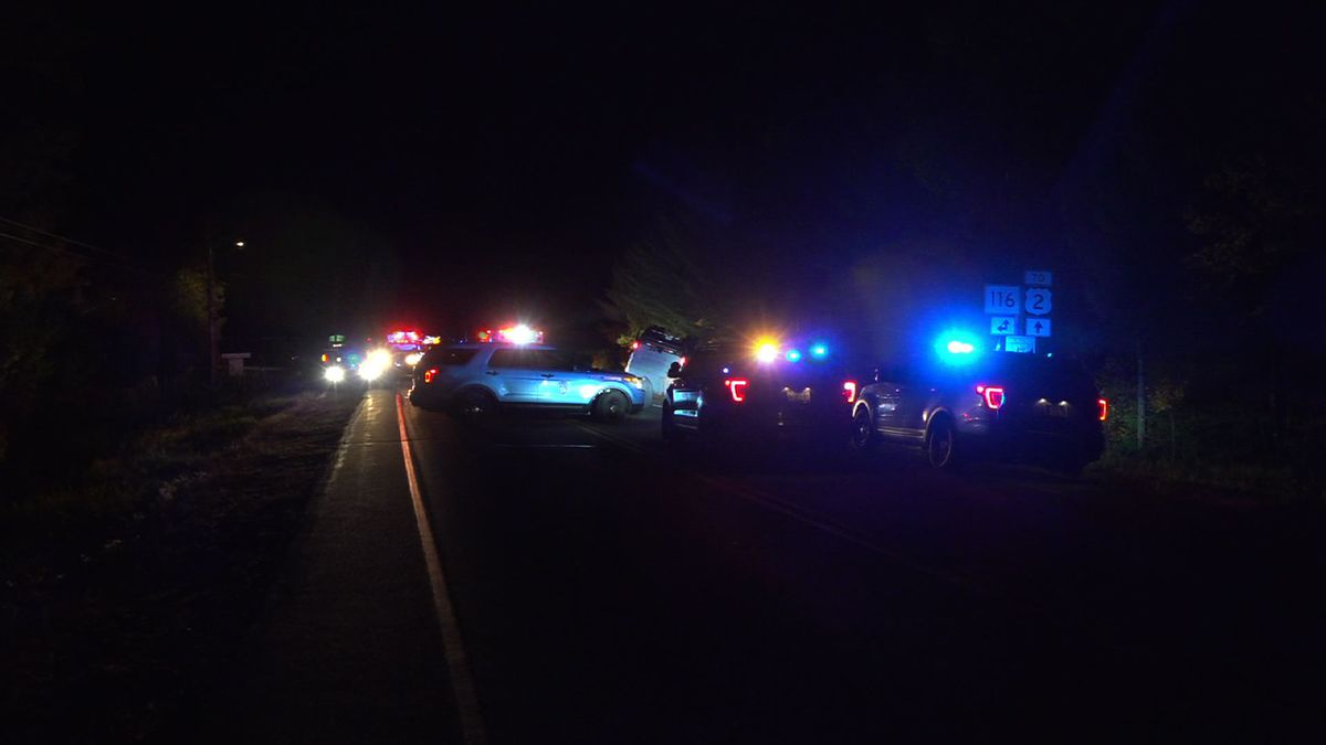 Maine State Police blocked off a portion of the Access Road, Thursday night.