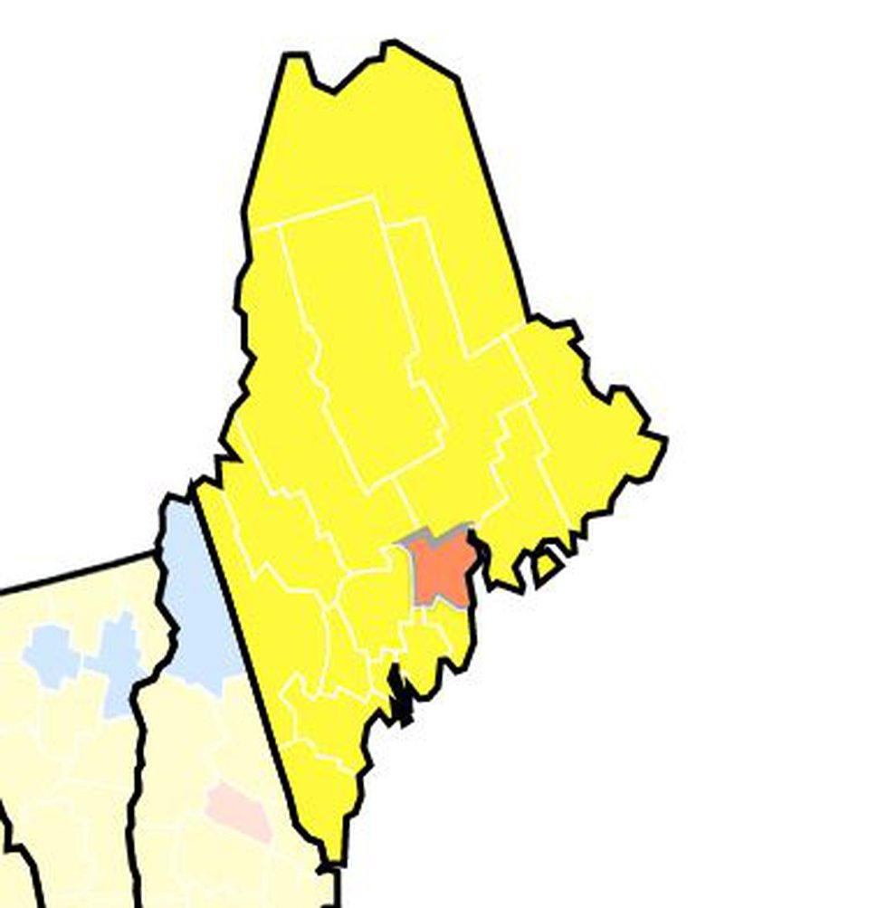 """As of Thursday afternoon, Waldo County was the only county in Maine with """"substantial""""..."""
