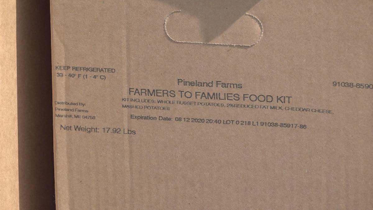 Pineland Farms box of food.
