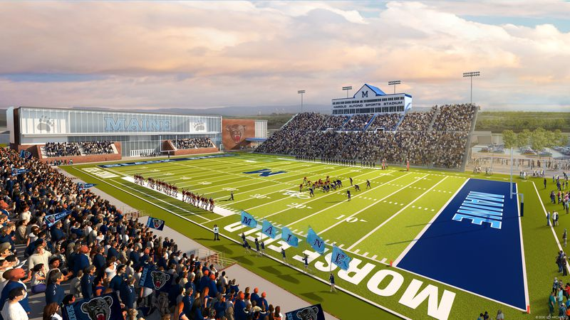 A rendering of the improvements planned for Harold Alfond Sports Stadium