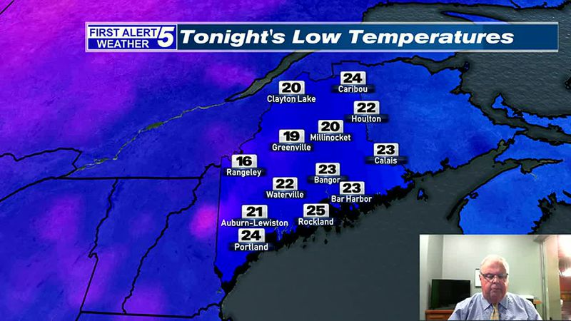 Partly to Mostly Cloudy & Chilly Tonight & Tuesday