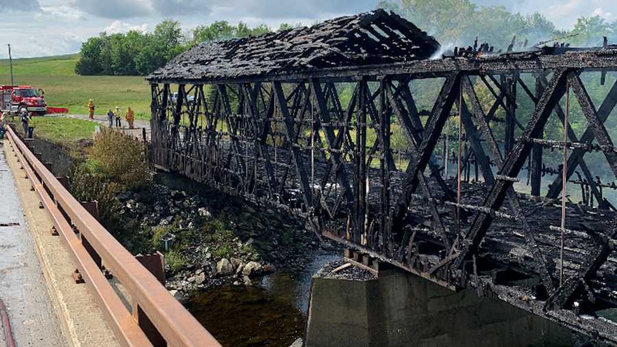 The July 19 fire destroyed the Watson Settlement Bridge in the Aroostook County town of...