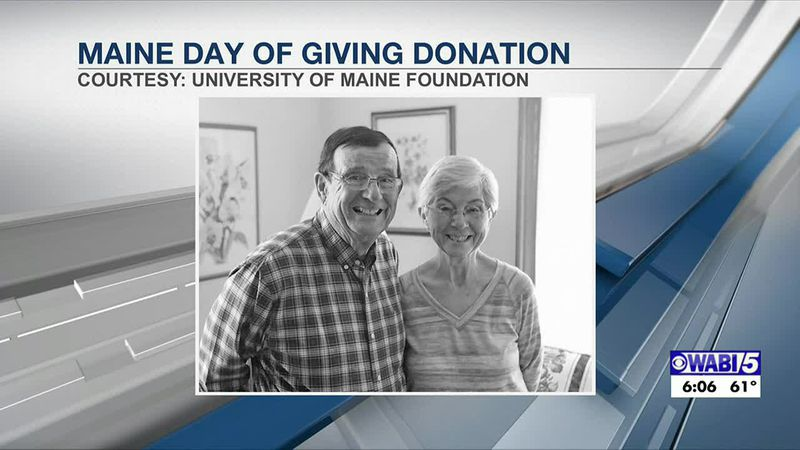 Old Town couple kicks off Maine Day giving at UMaine