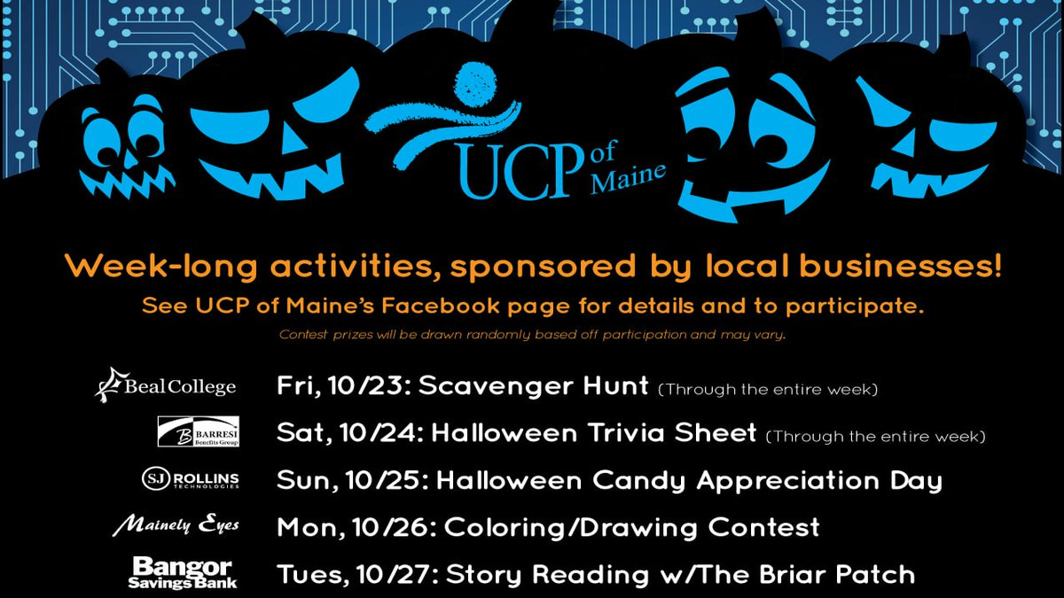 UCP of Maine holds virtual, week long event for annual Pumpkins in the Park