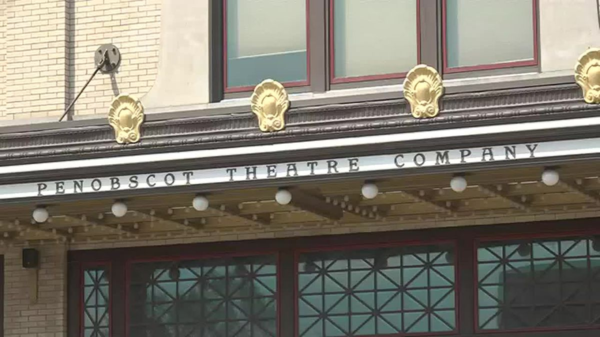Front of historic Bangor Opera House