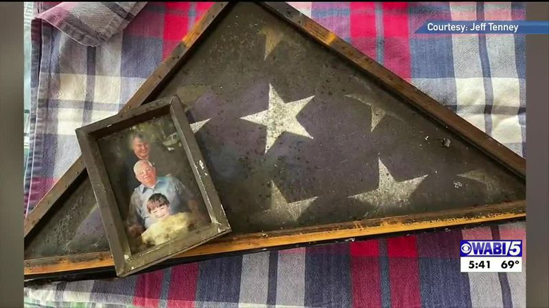 A Hampden veteran's flag folded again ten years to the day he was laid to rest