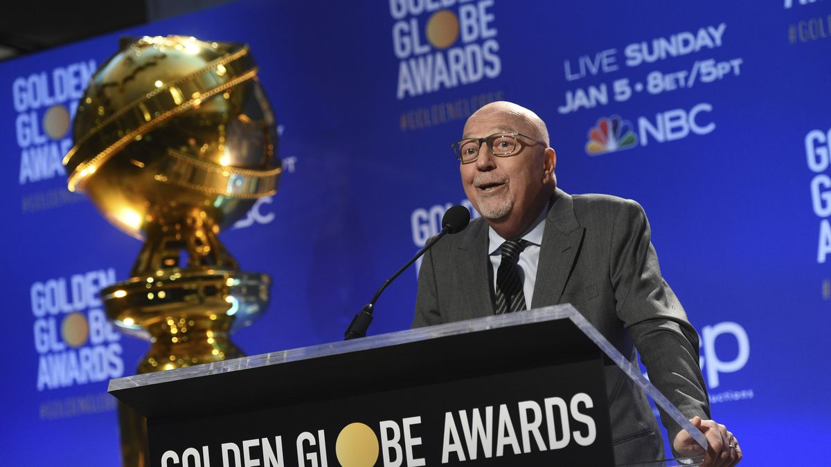 Lorenzo Soria speaks at the nominations for the 77th annual Golden Globe Awards on Dec. 9, 2019, in Beverly Hills, Calif. Soria, president of the Hollywood Foreign Press Association and former editor of the Italian news weekly L'Espresso, died Friday, the association said. He was 68.