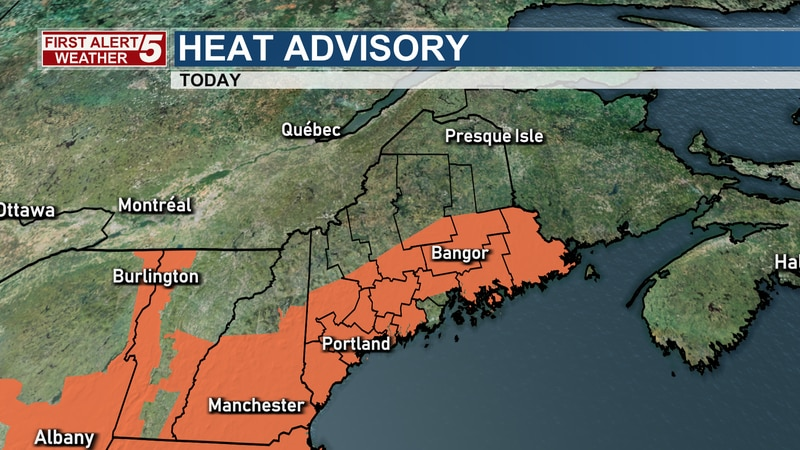 Heat indices could reach the mid and upper 90s over inland locations and low to mid-90s along...