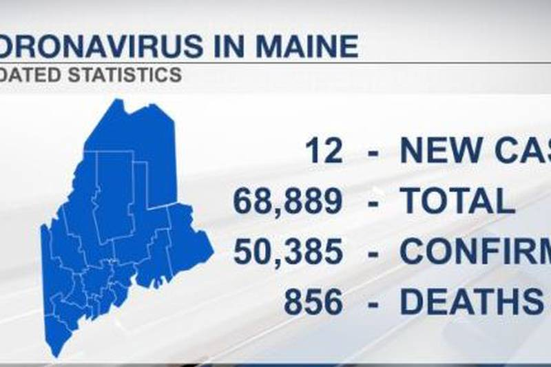 Newly released coronavirus cases by the Maine CDC