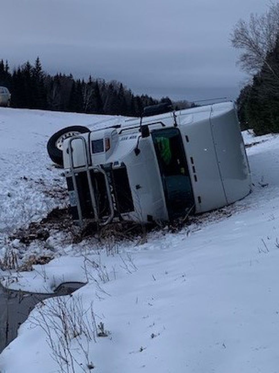 Truck driver from Buxton drifted off interstate in Dyer Brook early this morning