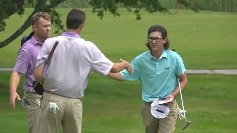 Brunswick Golf Club's Caleb Manuel leads the Maine Amateur after 1 round