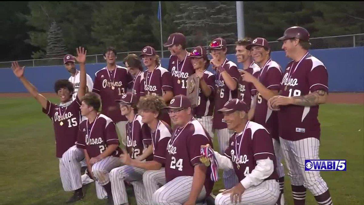 Orono baseball wins class C north over WA on a walk-off