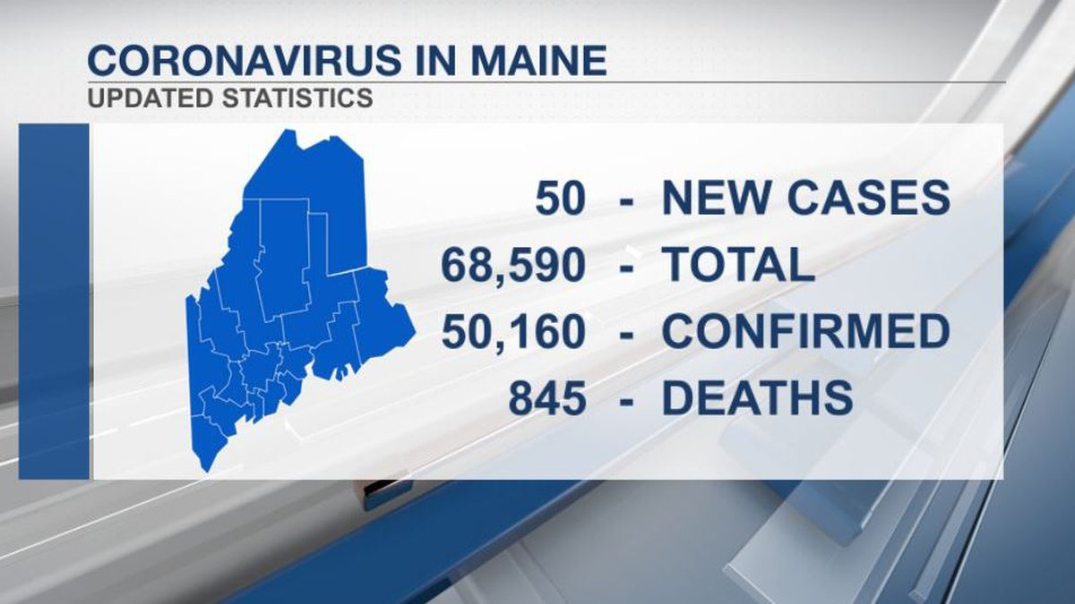 Maine CDC data as of 6-12-21