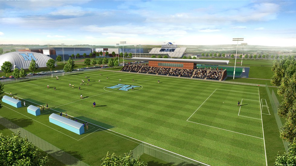 The new UMaine Soccer Stadium, a priority project of the Athletics Facilities Master Plan