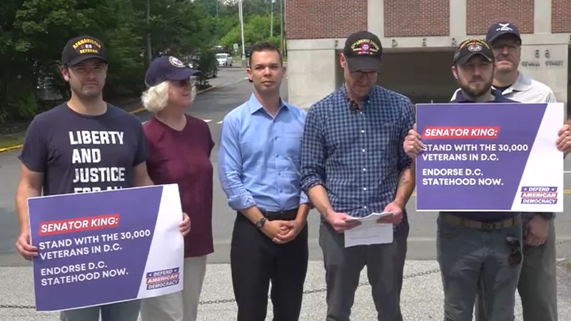 Group of veterans call on Sen. King to support D.C. statehood