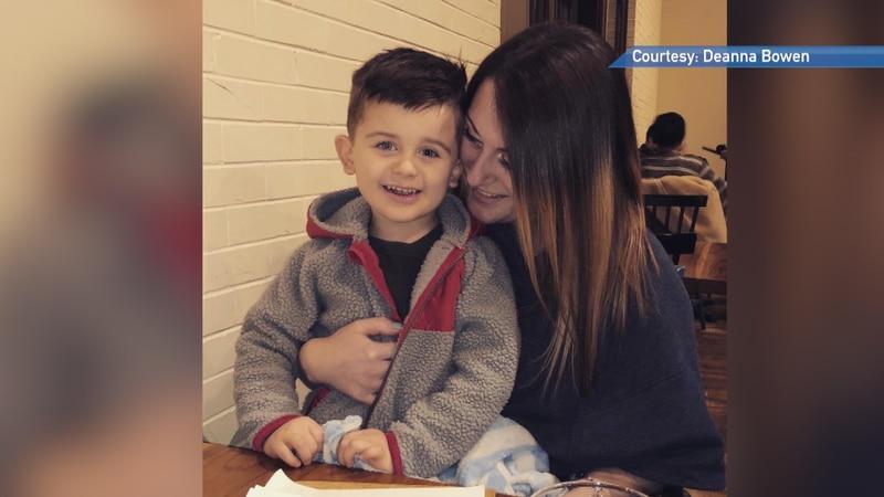 Deanna Bowen and her nephew