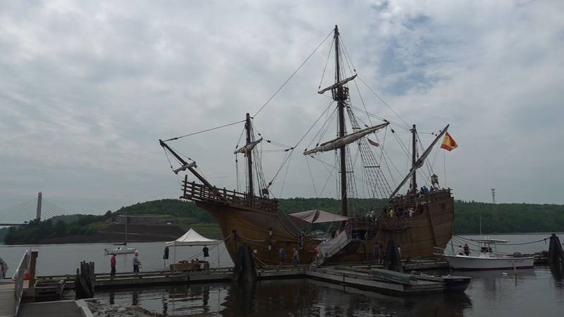Nao Santa Maria was docked in Bucksport until Wednesday, July 14