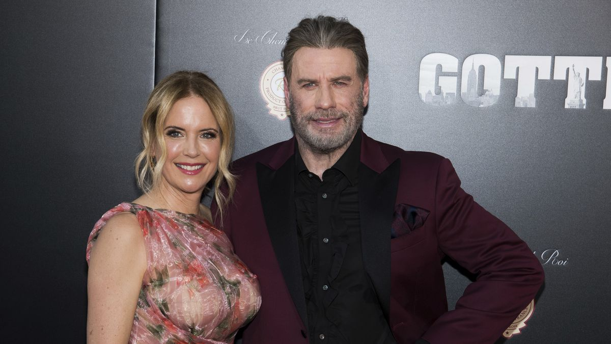 """Kelly Preston and John Travolta attend the premiere of """"Gotti"""" at the SVA Theatre on Thursday, June 14, 2018, in New York.(Source: Charles Sykes/Invision/AP)"""