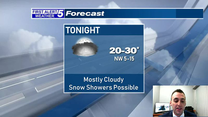 Mainly Cloudy With Snow Showers Possible Tonight