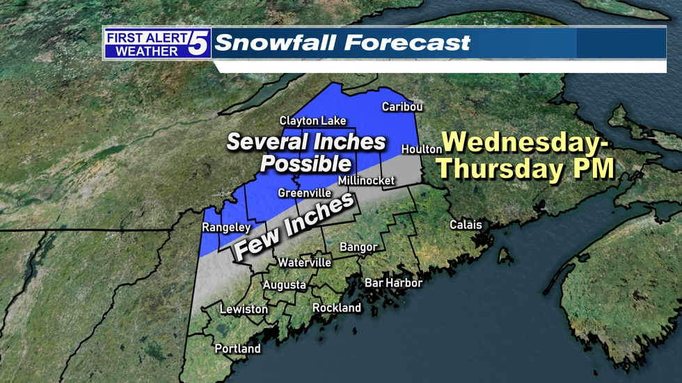 Depending on the eventual storm track... we could see accumulating snow especially higher...
