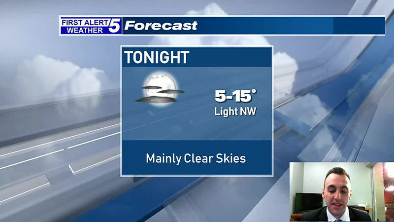 Mainly Clear & Cold Tonight, Lots of Sunshine Tomorrow