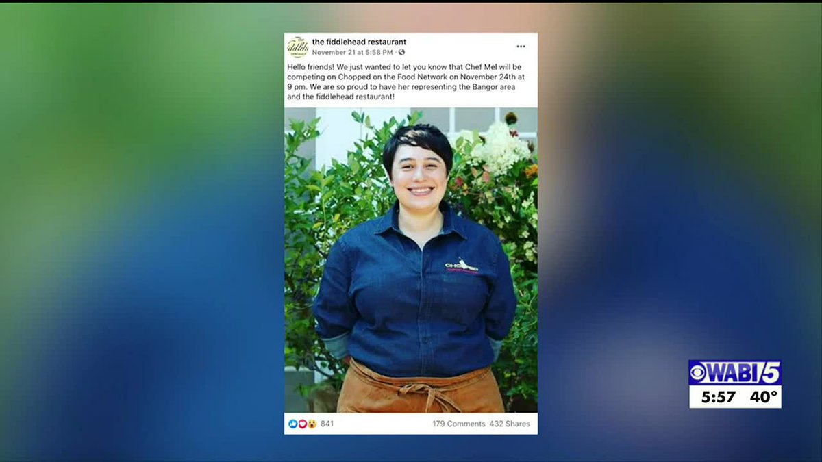 A Bangor chef will show off her skills Tuesday night on national TV