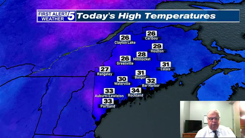 Chilly, with Scattered Snow Showers this Afternoon & Evening
