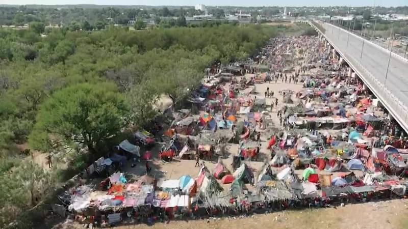 The crisis grows at the U.S.-Mexico border as thousands of Haitians hope to get into the United...