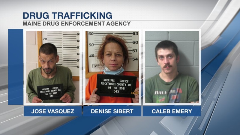 Three people facing drug charges in Milo.