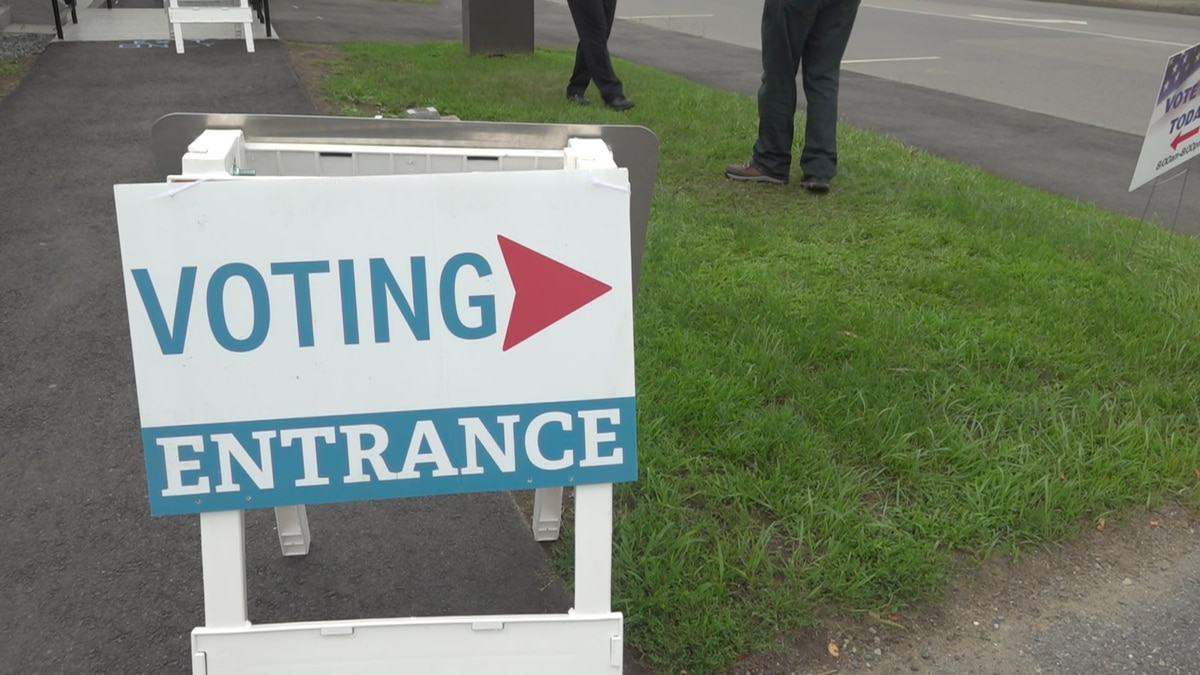 Voting entrance in Waterville, Maine