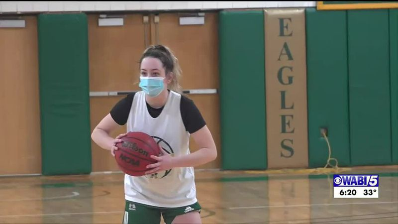 Husson women's hoops back to practice hoping to play some games
