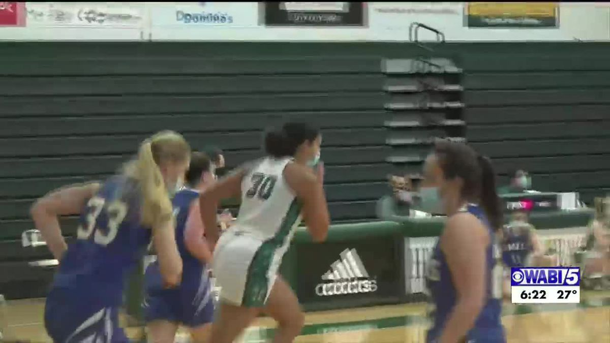 Hampden's Donovan first Husson women's player with a 30 pts, 20 rebound game