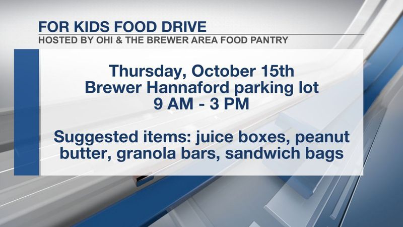 Brewer Area Food Pantry 'For Kids Food Drive' details