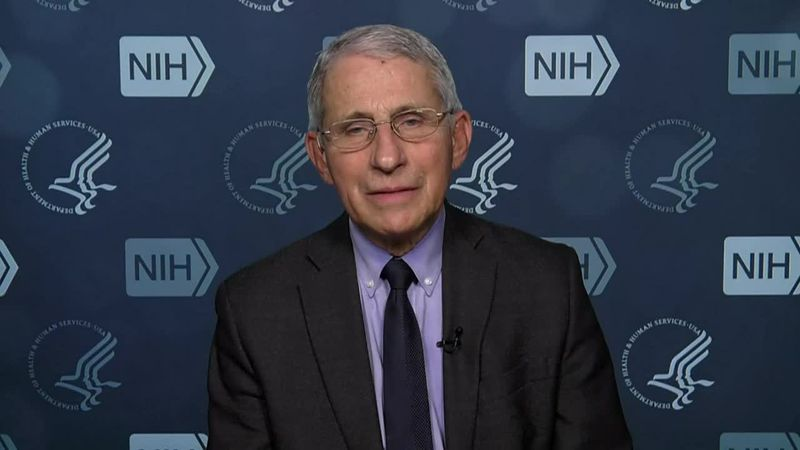 Dr. Anthony Fauci comments on the goal of 100 million vaccinations in Biden's first 100 days in...