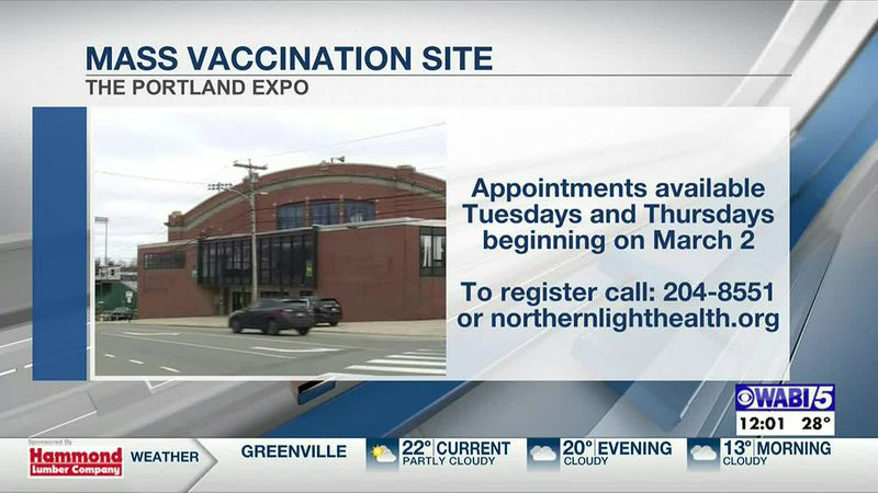 Northern Light Health plans to open Portland's first mass vaccination site at the Expo building...