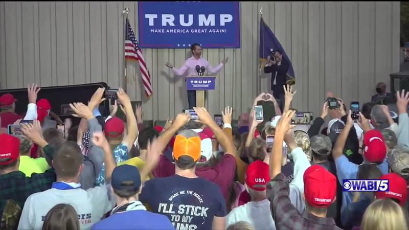 Donald Trump Jr holds rally in Holden in September