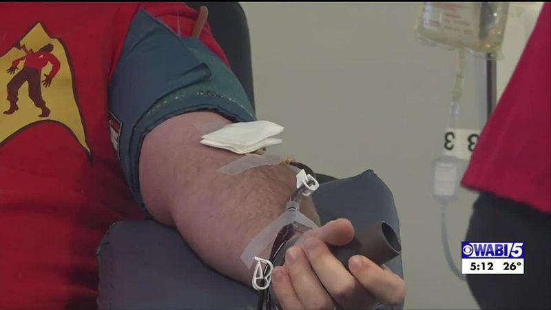Red Cross community blood drive