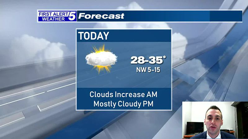 Increasing Clouds This Morning, Mostly Cloudy This Afternoon