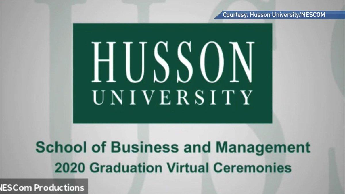 Husson holds online graduation ceremonies.