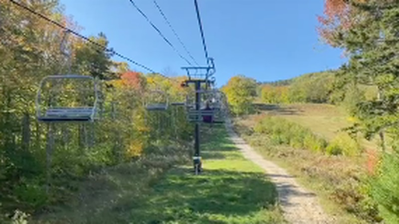 Much of the state in currently in the middle of peak leaf-peeping season.