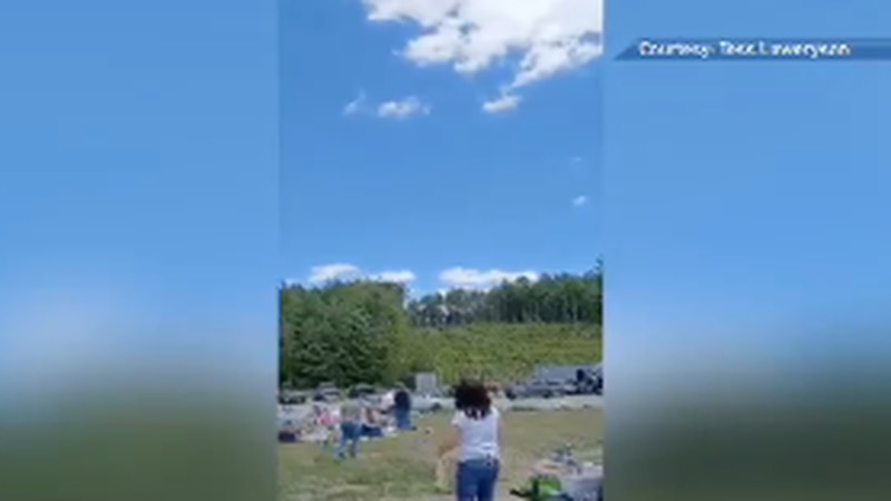 A flea market in Solon was interrupted today after tables, chairs, and anything for sale...