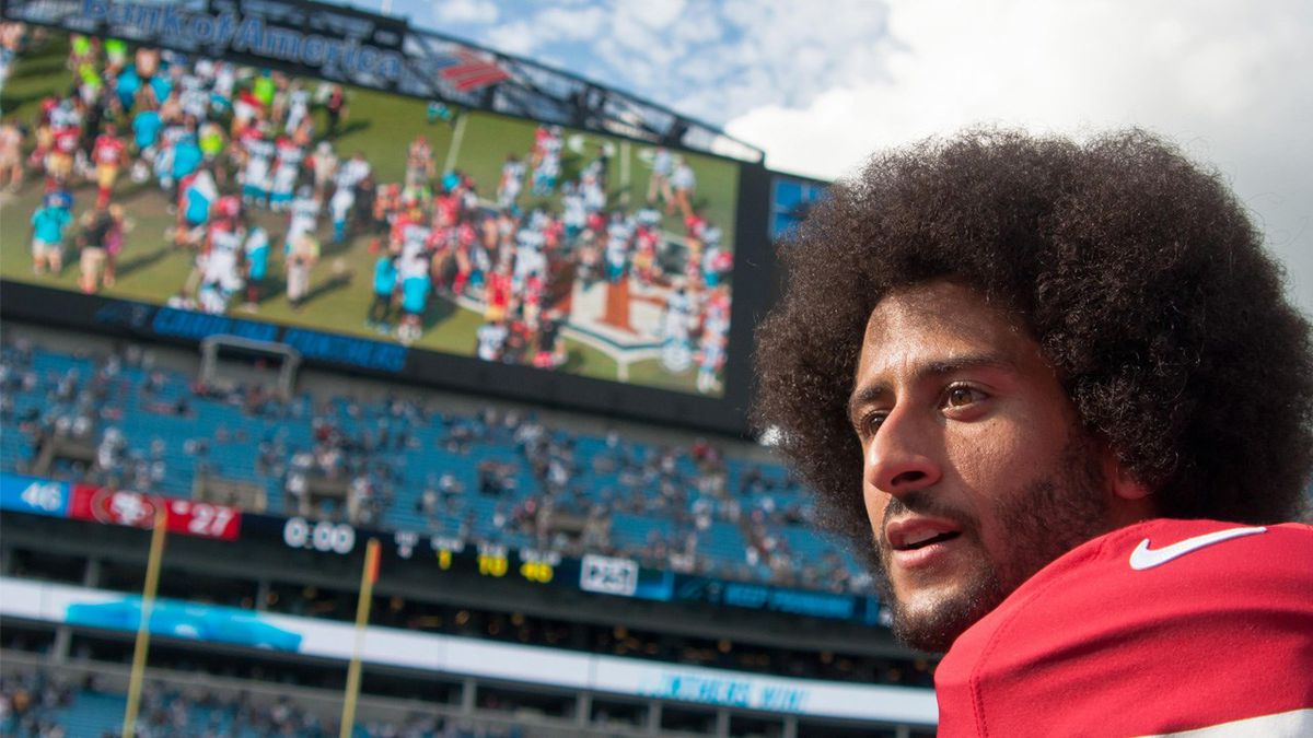 San Francisco 49ers QB Colin Kaepernick after the game against the Carolina Panthers in Charlotte North Carolina. Photo Date: 9/18/16 Photo: Ed Clemente